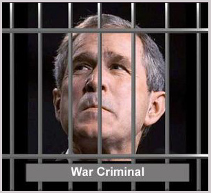 War criminal george bush