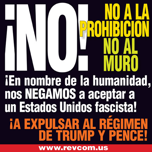 No a la prohibicion. No al muro.