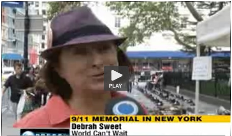Debra Sweet at 911 Global Memorial
